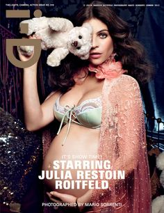 i-D Magazine Summer 2012 - Julia Restoin Roitfeld photographed by Mario Sorrenti
