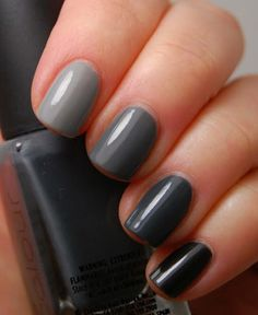 Prettiest Grey Nail Art