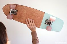 My Kippy skateboards, mint and pink //