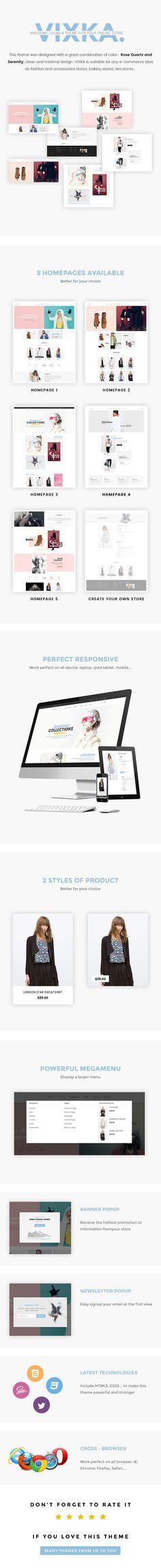 Vixka - Responsive VirtueMart Template