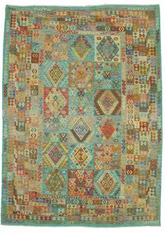 Kilim Afghan Old style carpet ABCE38 349x253 cm from Afghanistan - Buy your carpets at CarpetVista.com