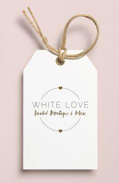 Logo & Corporate Identity Design for White Love Bridal Boutique & More by Viviane Lenders Design Logo Design, Label Design, Branding Design, Corporate Identity Design, Boutique Logo, Boutique Design, Bridal Logo, Clothing Brand Logos, Paper Bag Design