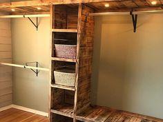 30 + Clever Diy Closet Design Organisation Ideen - Home - DIY & Crafts Closet Remodel, Closet Bedroom, Diy Bedroom, Bathroom Closet, Bedroom Storage, Bedroom Rustic, Trendy Bedroom, Master Bedrooms, Basement Master Bedroom