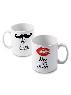 Personalised Mr and Mrs Mugs | very.co.uk