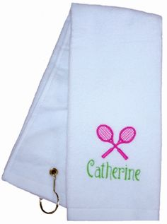 Monogrammed Preppy Tennis Towel
