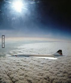 Concorde cruising above the earth at 60,000 feet!