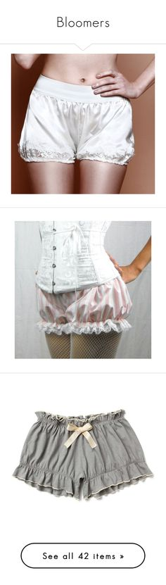 """""""Bloomers"""" by shannen-legere-lavigne ❤ liked on Polyvore featuring steampunk, bloomers, bubbleshorts, intimates, panties, lingerie, silver, women's clothing, black and white lingerie and sexy boyshorts"""