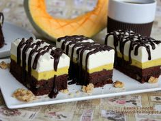 Prajitura cu branza, dovleac, nuca si cafea - imagine 1 mare Romanian Desserts, Sweets Recipes, Brownies, Sweet Treats, Cheesecake, Food, Dessert Recipes, Cake Brownies, Sweets