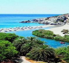 Preveli Beach South West Coast Of Crete Greece