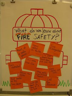 First Grade Garden: Freebies Cute fire safety activity to integrate with social studies and writing curriculum