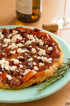 Carolines blog: vegetarisch; tarte tatin pompoen en feta