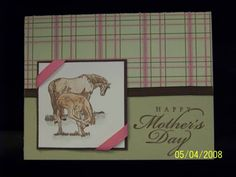 Mother's Day Card - Horses by StampinbyGeorge - Cards and Paper Crafts at Splitcoaststampers
