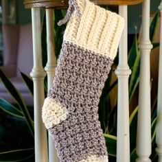 Free Crochet Pattern: Cozy Cottage Christmas Stocking Free Crochet Pattern: Cozy Cottage Christmas Stocking Pin: 600 x 600 Crochet Christmas Stocking Pattern, Crochet Stocking, Holiday Crochet, Crochet Gifts, Free Crochet, Crochet Christmas Stockings, Crochet Christmas Gifts, Christmas Patterns, Christmas Stockings With Names