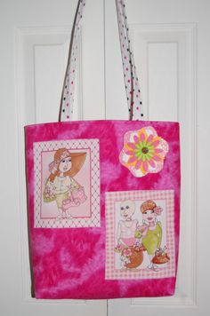 Breast Cancer Awareness Ribbon Bag with Ladies