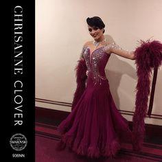BDD936NN BALLROOM DRESS - WINE - NUDE Ice Dance Dresses, Ballroom Dance Dresses, Ballroom Dancing, Dance Outfits, Ballroom Costumes, Dance Costumes, Open Dress, Dance Accessories, Luxury Dress