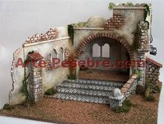 Belenes Idea Portal, Medieval Houses, Miniture Things, Garden Bridge, Nativity, Outdoor Structures, Crafts, Military Modelling, Galleries