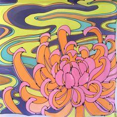 Mano pintada seda bufanda cuadrada grande por SilkScarvesTakuyo