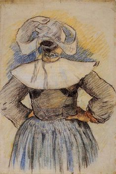 'Breton Woman' - Paul Gauguin.