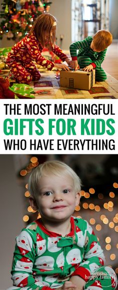 This gift guide for kids is EPIC! Most kids' gifts will end up forgotten. But here are 34 meaningful gifts they'll treasure for a very long time. This list is especially helpful if you're looking for non-toy gifts for kids for Christmas or birthdays. The best part: Your kids will FLIP for these presents! #giftguide #giftsforkids #kidsgifts #christmasgiftsforkids