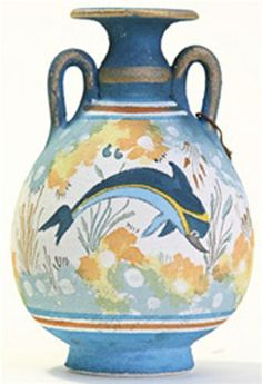 Minoan vase ~ about 1500 BC click the image or link for more info. Minoan Art, Bronze Age Civilization, Ancient Greek Art, Ancient Greece, Mycenaean, Greek Pottery, Creta, Ancient Artifacts, Ceramic Art