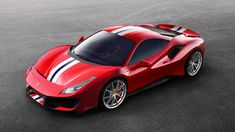 The newest member of Ferrari's special series is finally here — officially, after many rumours and leaked pictures circulated over social media — and it's the most powerful model yet. Here's your first look at the new Ferrari 488 Pista… Ferrari 488 Gtb, Ferrari 360, New Ferrari, Ferrari California, Peugeot, Assurance Auto, Aston Martin Dbs, Geneva Motor Show, Supercars