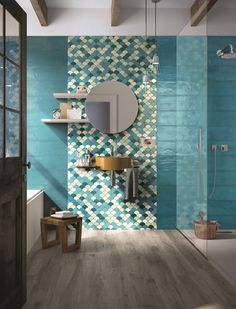 Double-fired ceramic wall tiles SHADES by Cooperativa Ceramica d'Imola