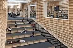 The whole space is continuous but on two levels,' says Fujimoto of the library's…