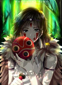 Princess Mononoke- San the Wolf Princess