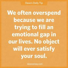 Overspending to fill emotional gaps