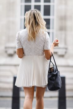 White Lace Pretty Dress With The All Saints Papin Leather | Emtalks | Beauty, Fashion, Lifestyle and Travel blog.: White Lace Pretty Dress With The All Saints Papin Leather