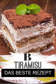 The best recipe - Tiramisu: The best recipe. The perfect tiramisu is creamy, but not mushy. We show you how the popul -Tiramisu: The best recipe - Tiramisu: The best recipe. The perfect tiramisu is creamy, but not mushy. We show you how the popul - Mini Desserts, Italian Desserts, Easy Desserts, Italian Recipes, Tiramisu Dessert, Dessert Simple, Food Cakes, Pumpkin Dessert, Easy Cake Recipes
