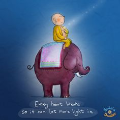 {Daily Buddha Doodle} Let the Light In - Every heart breaks so it can let more light in.