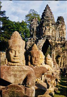 Faces at Angkor Thom, Cambodia