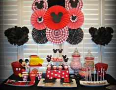 Mickey Mouse Party SetUp Decorations Event Ideas Pinterest
