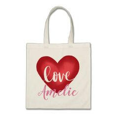 LOVE TOTE BAG - heart gifts love hearts special diy