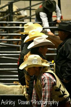 Line 'em Up by the cowboy hats