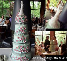 This Wedding Cake is soooo Pretty!!!  Pic sent from St. Charles IL. Exclusive ARTIST SIGNATURE piece! http://www.ginafreehillshop.com/languageoflove.html
