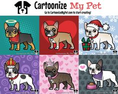 Create your own Frenchie http://www.cartoonizemypet.com/builder/?view=color&animal=dogs&pet=french-bulldog