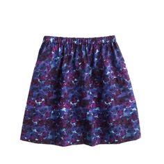 J.Crew girls' pull-on skirt in violet floral.