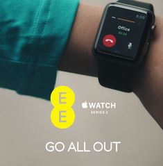 Only EE customers can call the office from their Apple Watch Series 3 while rushing to work – in a  zorb ball. Works only on EE.