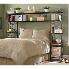 Scroll Headboard from Ginny's ® Maybe do something like this with Elfa freestanding