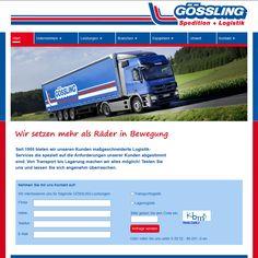 Konzept & Design und Umsetzung STEINBERG DESIGN Kunde: Gössling Spedition GmbH