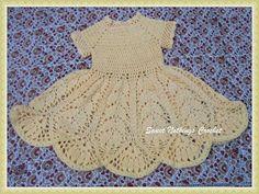 Sweet Nothings Crochet: BEAUTIFUL LOTUS BABY DRESS