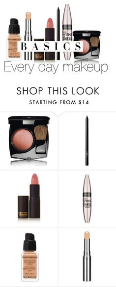 """""""Every Day Make Up"""" by micuwinter ❤ liked on Polyvore featuring beauty, Chanel, NARS Cosmetics, Lipstick Queen, Maybelline, Givenchy, Chantecaille, Beauty, makeup and day"""