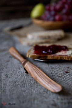Hand crafted ash wood butter knife