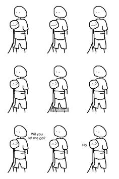 When my girlfriend hugs me...