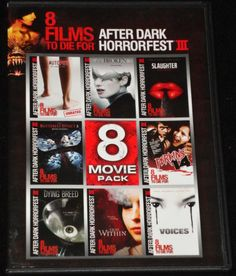 8 Films to Die for After Dark Horrorfest III 3 DVD 2 Discs Horror Autopsy 7 for sale online Ian Stone, Amy Shiels, Rumer Willis, Ghost House, After Movie, Dvd Set, About Time Movie, Horror Films, Movies