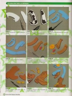 Como hacer a Woody en Goma Eva - Revistas de manualidades Gratis Felt Crafts, Paper Crafts, Cumple Toy Story, Woody, Disney Characters, Fictional Characters, Kids Rugs, Toys, Dolce