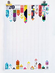 Perpetual Yearly Wall Planner by Sam Osborne, via Behance