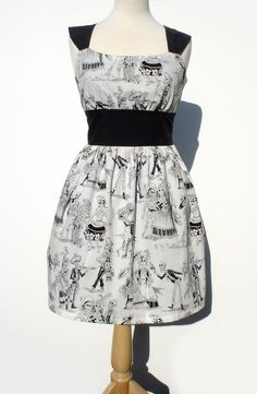 """Riding Shotgun"" Day of the Dead  Rockabilly Pinup Dress"